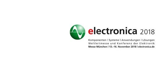 Electronica 13.-16. November 2018 – auch wir sind wieder dabei!