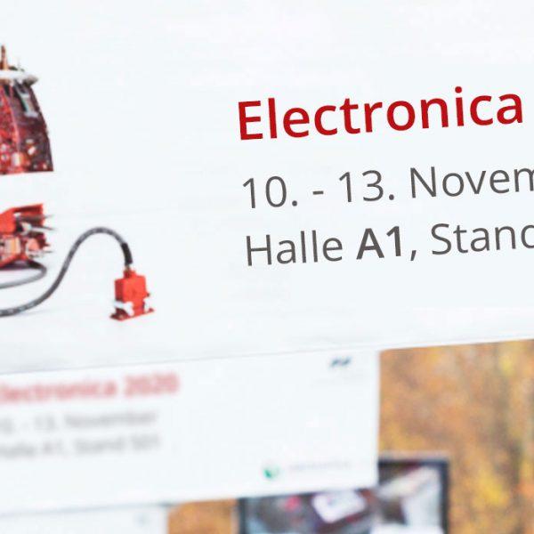Wir sind auf der electronica 2020 // 10. November – 13. November